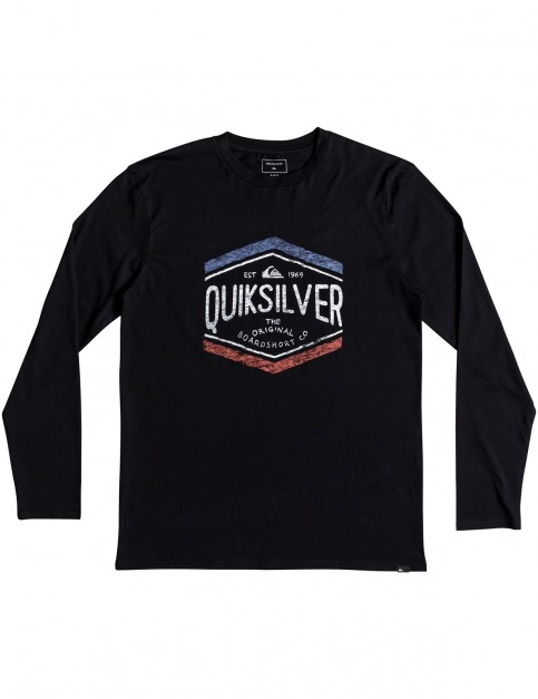 Quiksilver Sketchy Member Long Sleeve T-Shirt in Black