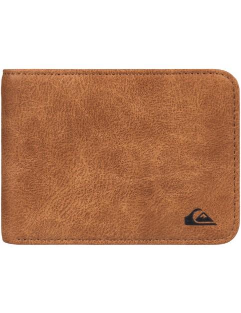 Tan Leather Quiksilver Slim Vintage Faux Leather Wallet