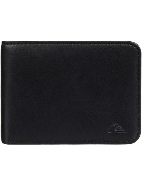 Quiksilver Slim Vintage Faux Leather Wallet in Black
