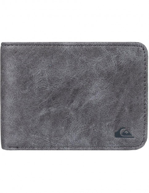 Quiksilver Slim Vintage Faux Leather Wallet in Urban Chic