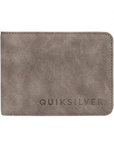 Quiksilver Slim Vintage II Faux Leather Wallet in Turkish Coffee
