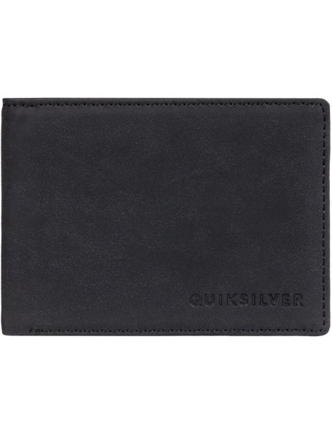 Quiksilver Slim Vintage III Faux Leather Wallet in Black