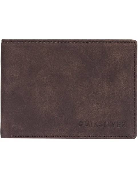 Quiksilver Slim Vintage III Faux Leather Wallet in Chocolate