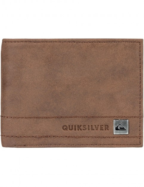 Quiksilver Stitchy Wallet III Faux Leather Wallet in Chocolate