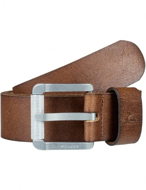 Quiksilver The Every Daily II Leather Belt in Demitasse