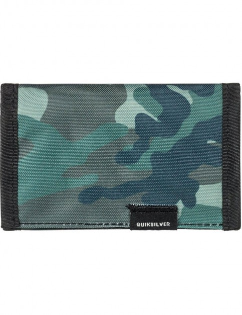 Quiksilver The Everydaily Polyester Wallet in Grape Leaf Camo