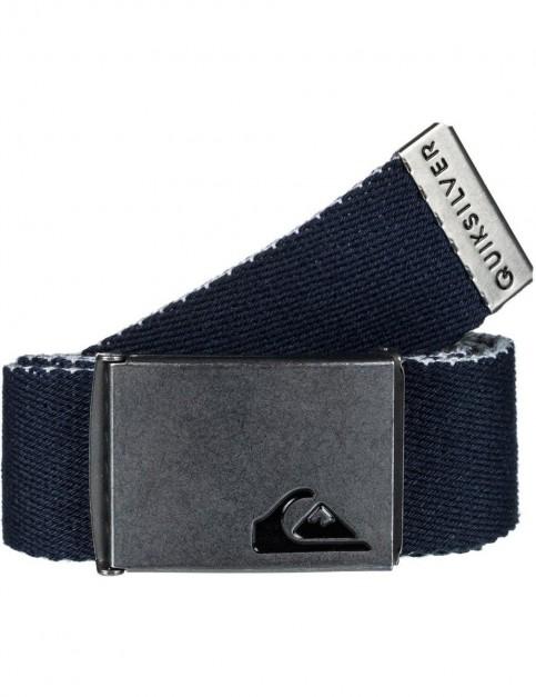 Quiksilver The Jam 4 Webbing Belt in Navy Blazer