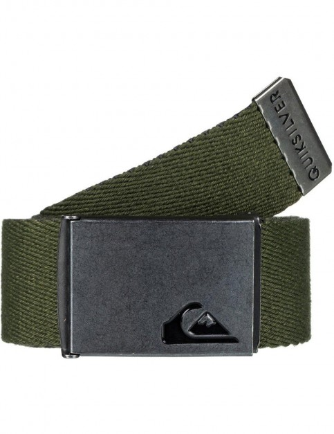 Quiksilver The Jam 4 Webbing Belt in Rifle Green