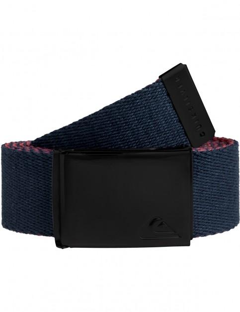 Quiksilver The Jam 5 Webbing Belt in Navy Blazer