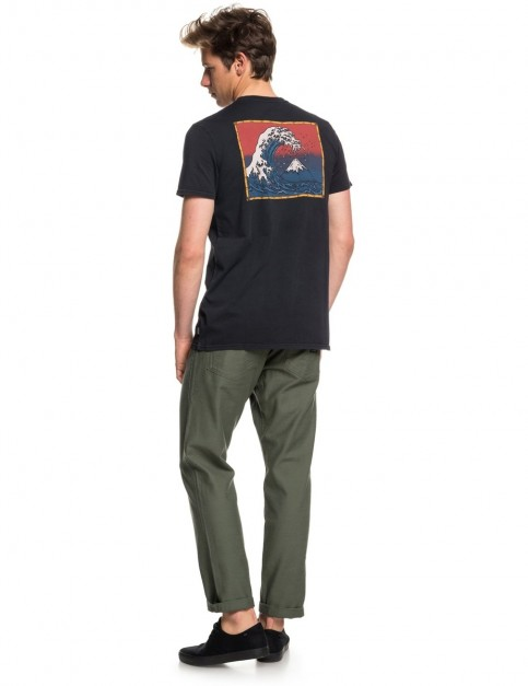 Quiksilver The Original Mountain and Wave Short Sleeve T-Shirt in Black
