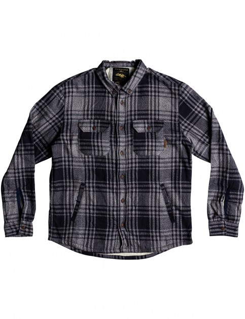 Quiksilver The Waffle Overshirt Long Sleeve Shirt in Overshirt med blue