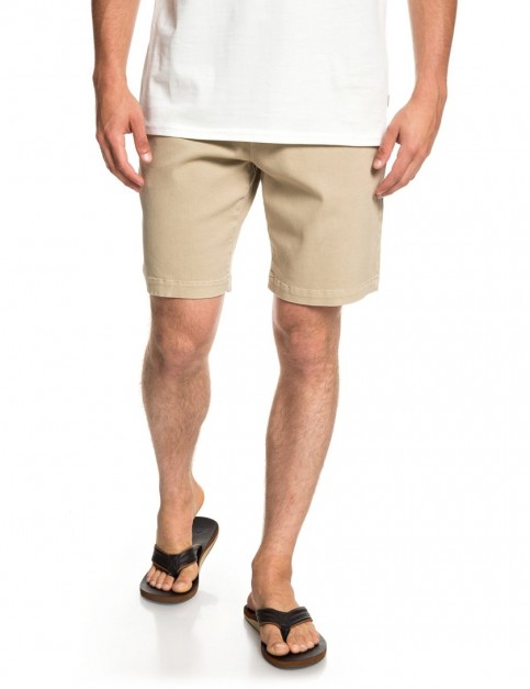 Quiksilver Twist of Shadow Elasticated Shorts in Plage