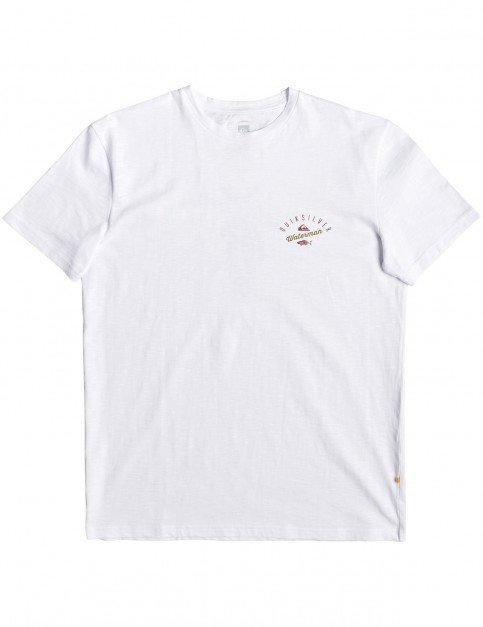 Quiksilver Waterman Aztec Fish Short Sleeve T-Shirt in White