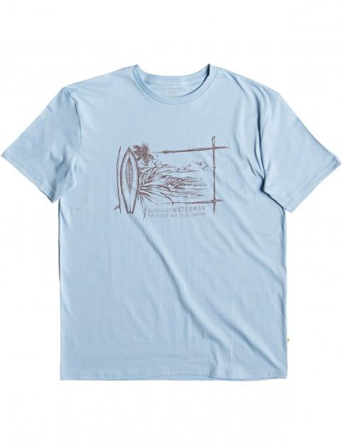 Quiksilver Waterman Simple Lines Short Sleeve T-Shirt in Cerulean