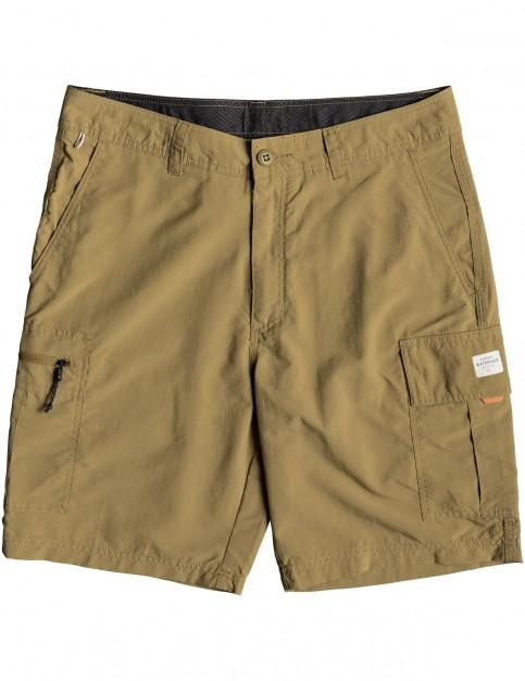Quiksilver Waterman Skipper Cargo Shorts in British Khaki