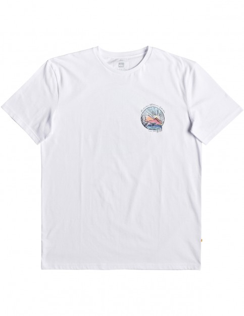 Quiksilver Waterman Whale Sunset Short Sleeve T-Shirt in White