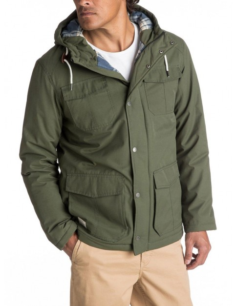 Quiksilver Weather Parka Jacket in Beetle