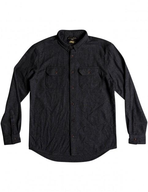 Quiksilver Wooly Shirt Long Sleeve Shirt in Dark Grey Heather