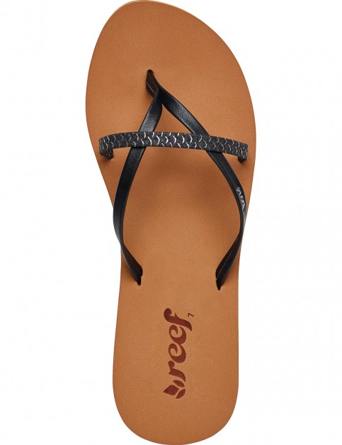 Reef Bliss Wild Flip Flops in Black