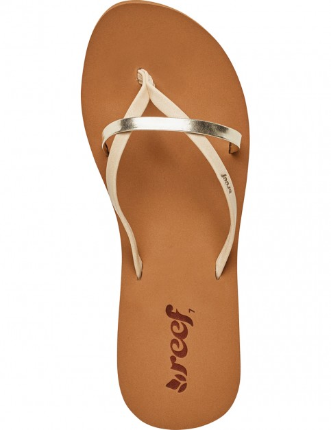 Reef Bliss Wild Flip Flops in Cream