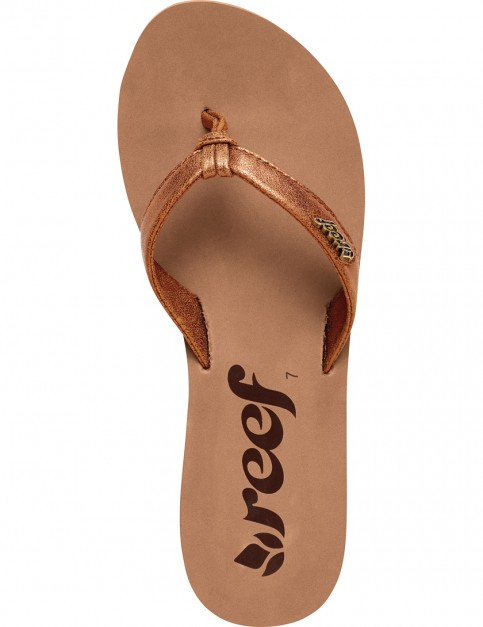 Reef Cape Faux Leather Sandals in Bronze