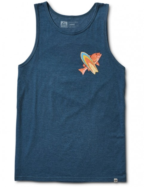 Reef Color Sleeveless T-Shirt in Navy Heather