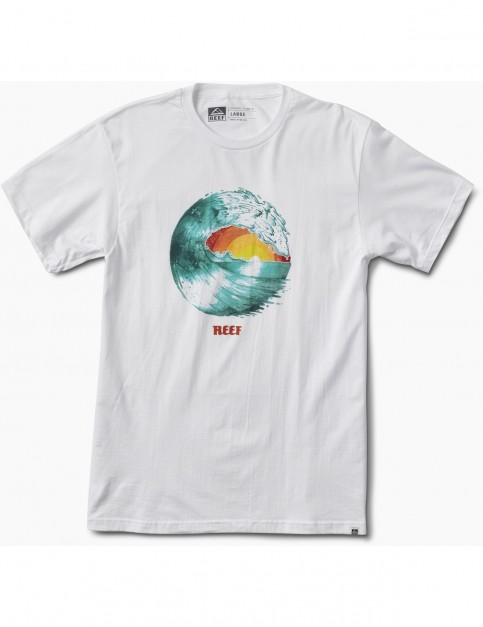 Reef Color Tee Short Sleeve T-Shirt in White