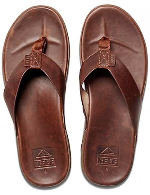 Reef Contoured Voyage LE Leather Sandals in Bronze Brown