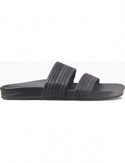 Reef Cushion Bounce Slide Flip Flops in Black
