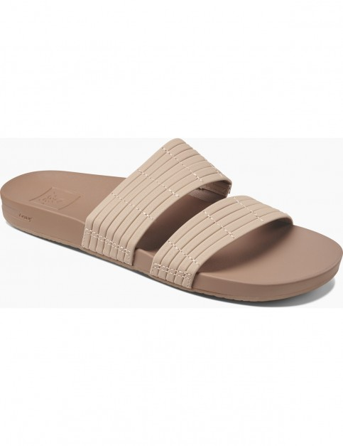 Reef Cushion Bounce Slide Flip Flops in Nude