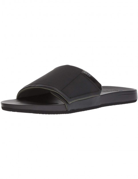 Reef Cushion Bounce Slide Sliders in Black