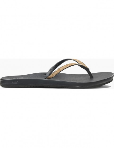 Reef Cushion Bounce Stargazer Flip Flops in Gold