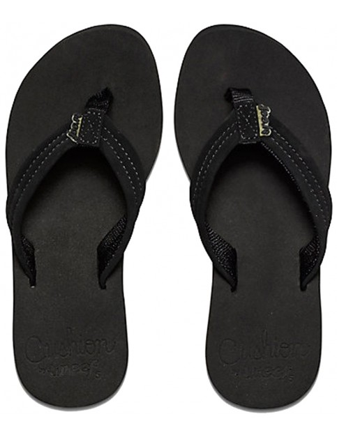 Reef Cushion Breeze Flip Flops in Black/Black