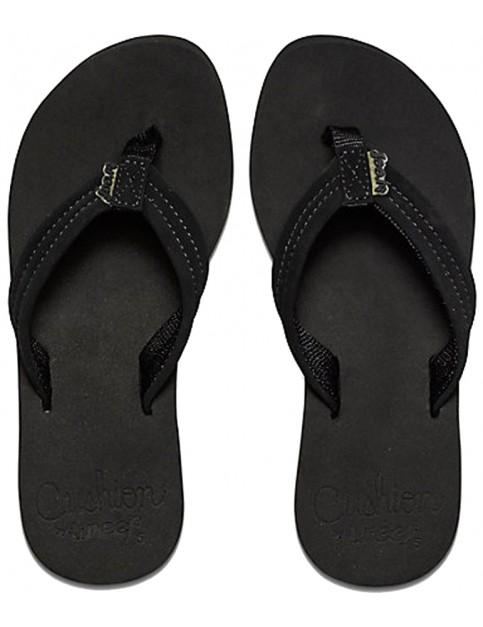 Reef Cushion Breeze Flip Flops in Black/Black
