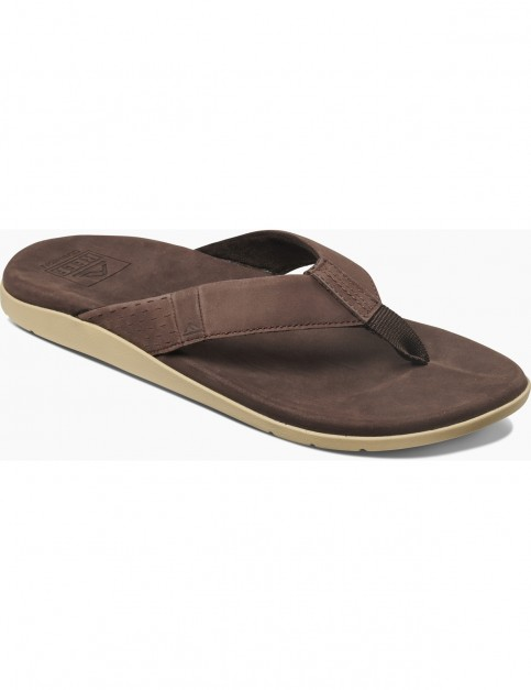 Reef Cushion J Bay Flip Flops in Dark Brown