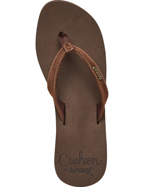 Reef Cushion Luna Flip Flops in Brown