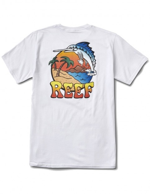 Reef Deep Sea Fish Short Sleeve T-Shirt in White