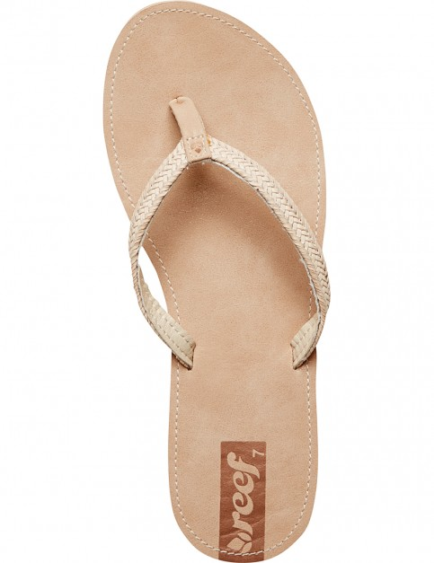 Reef Downtown Truss Faux Leather Sandals in Natural