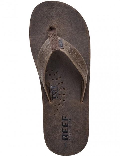 Chocolate Reef Draftsmen Leather Sandals