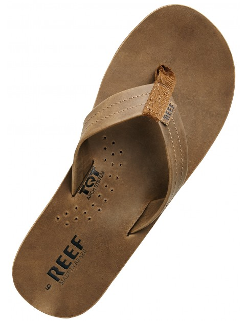 Reef Draftsmen Leather Sandals in Bronze Brown