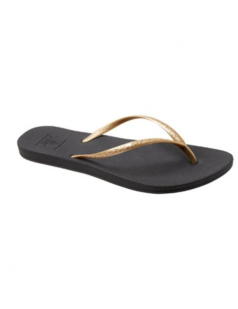 Reef Escape Lux Flip Flops in Black/Gold