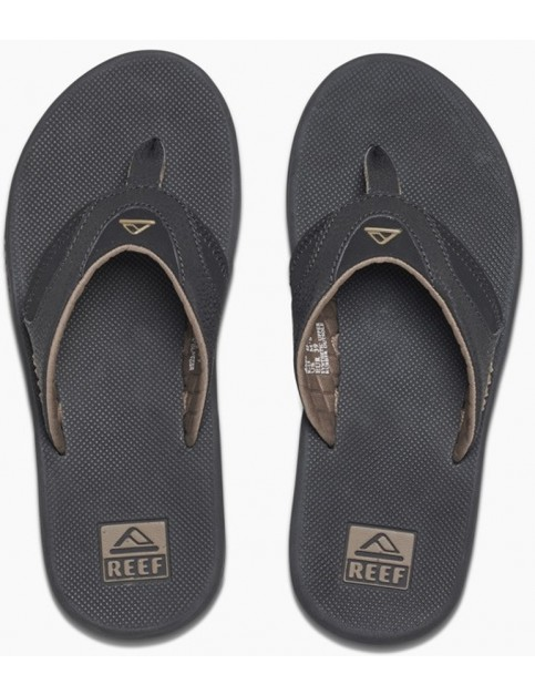 Reef Fanning Flip Flops in Black/Brown