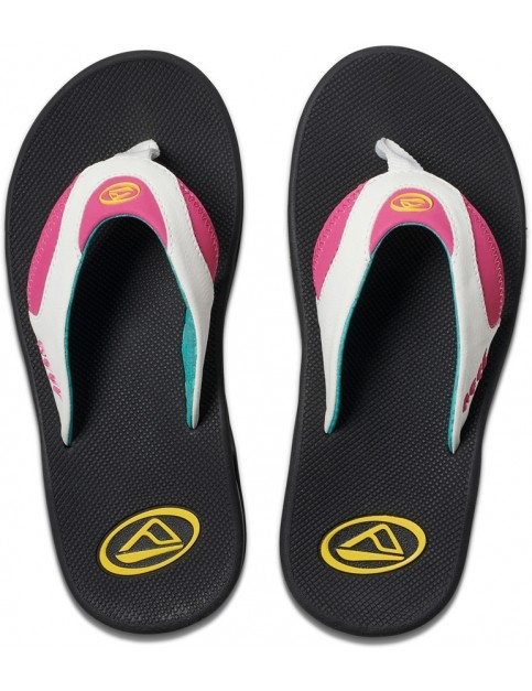 Reef Fanning Flip Flops in Bright Nights