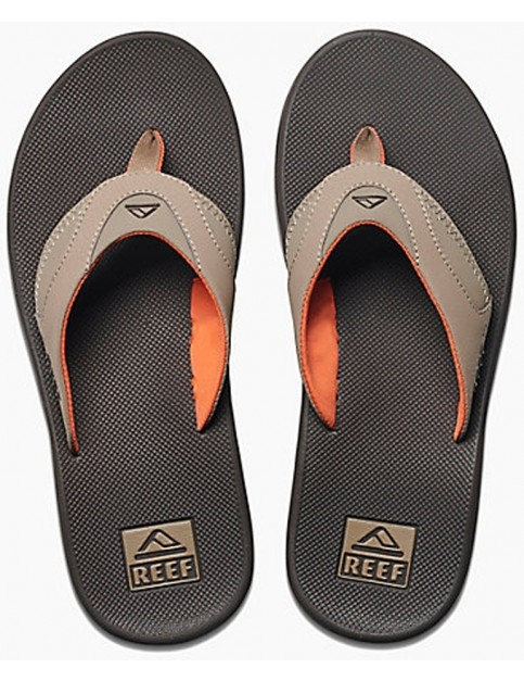 Reef Fanning Flip Flops in Brown/Orange