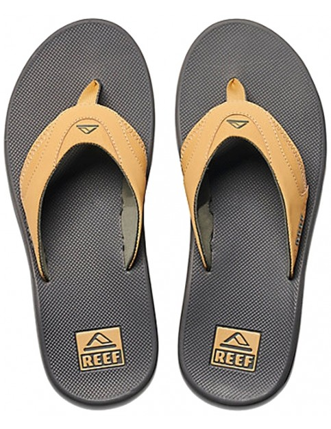 Reef Fanning Flip Flops in Charcoal/Tan