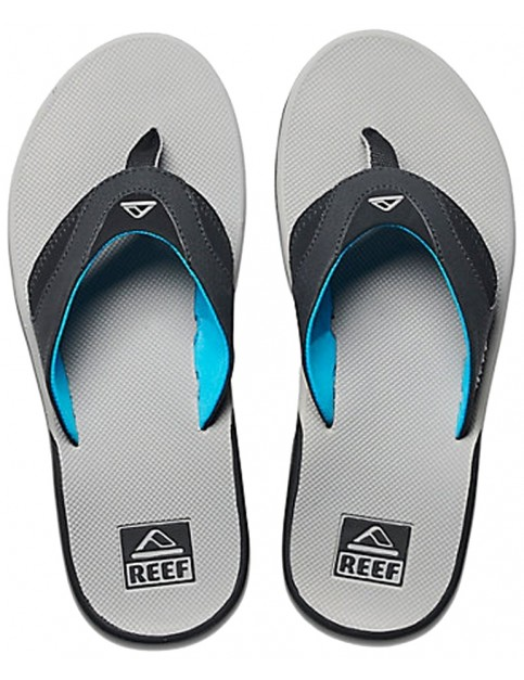 Reef Fanning Flip Flops in Light Grey/Blue