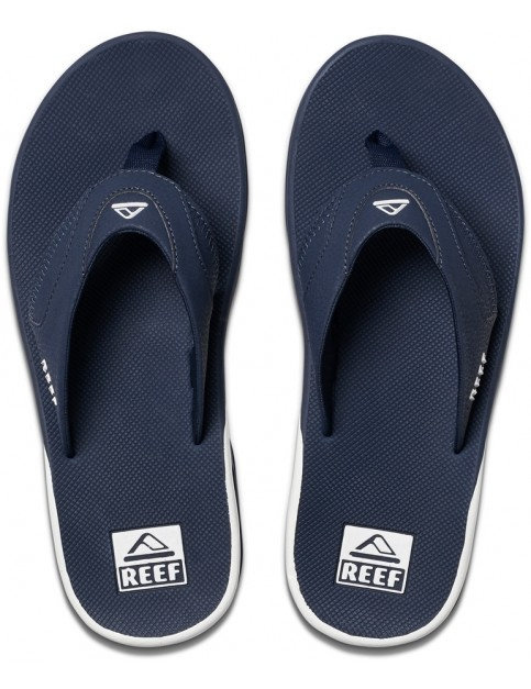 Reef Fanning Flip Flops in Navy/White