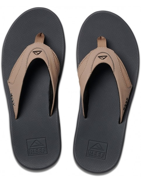 Reef Fanning Flip Flops in Tan/Black/Tan