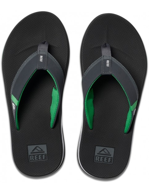Reef Fanning Low Flip Flops in Black/Green