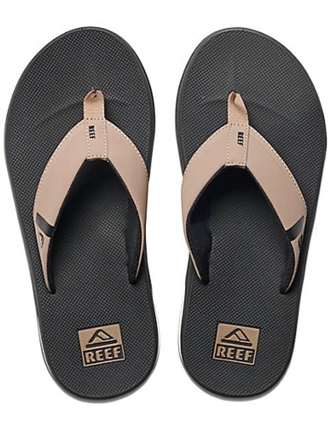 Reef Fanning Low Flip Flops in Black/Tan